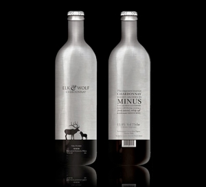 Aluminum Wine Bottle: Elk & Wolf